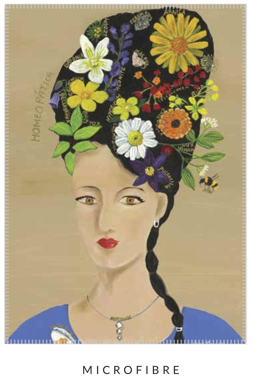 Artist Tea Towel - Lady of Homeopathy - Microfibre