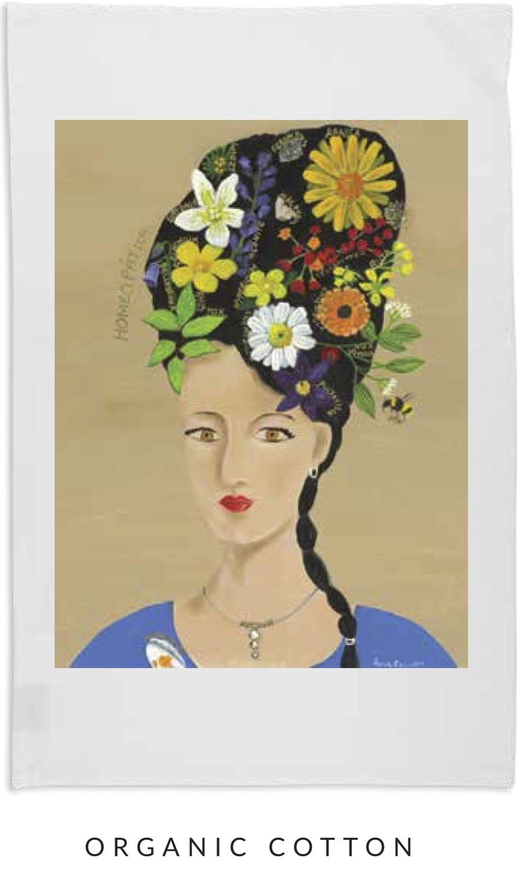 Artist Tea Towel - Lady of Homeopathy - Organic Cotton