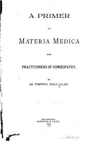 A primer of Materia Medica*