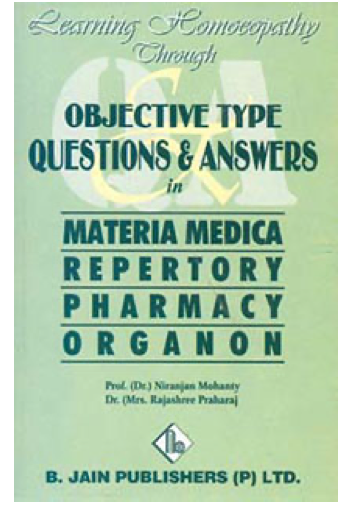Learning homeopathy through objective type questions and answers*