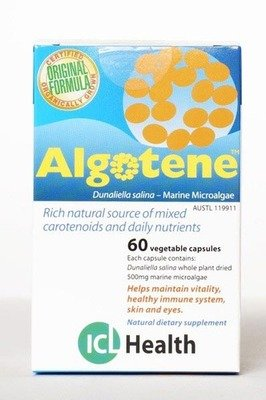 Algotene: Natural beta-carotene  60 vegie caps