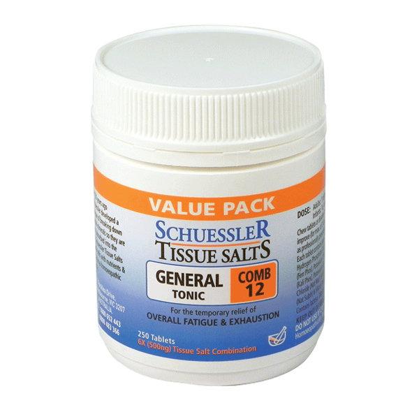 Schuessler Tissue Salts General Tonic Combo 250 tabs