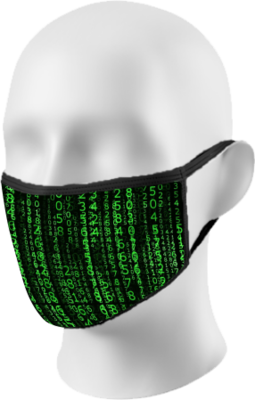Matrix Digital Rain Face Mask