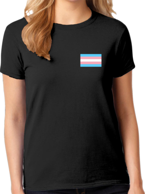 OutPride Trans Chest Flag Tee