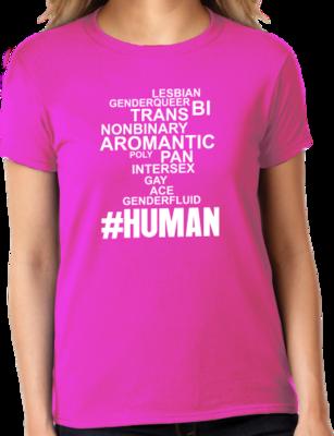 OutPride #Human T-shirt