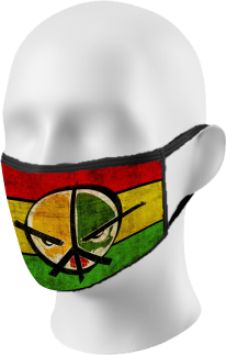 Red Yellow Green Peace Face Mask