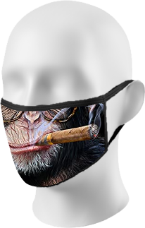 Smoking Chimp Face Mask