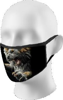Lion Roaring Face Mask