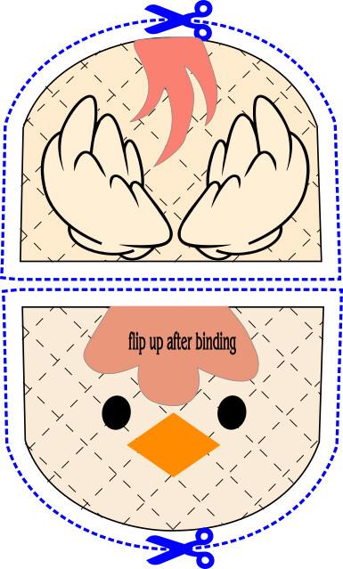 Chicken animal oven mitt sewing machine pattern and tutorial