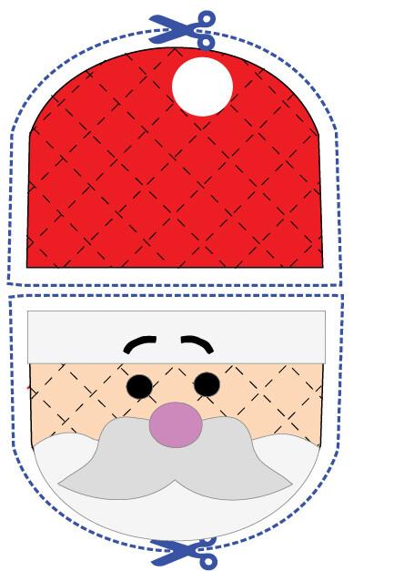 Santa animal oven mitt sewing machine pattern and tutorial