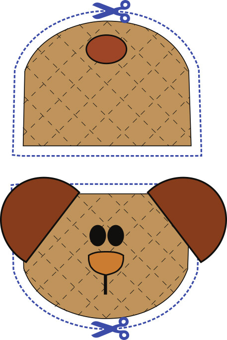 Bear animal oven mitt sewing machine pattern and tutorial