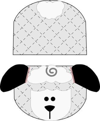 Lamb animal oven mitt sewing machine pattern and tutorial