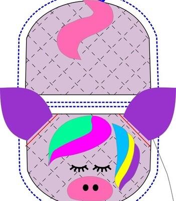 Unicorn animal oven mitt sewing machine pattern and tutorial
