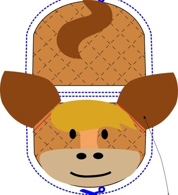 Horse animal oven mitt sewing machine pattern and tutorial