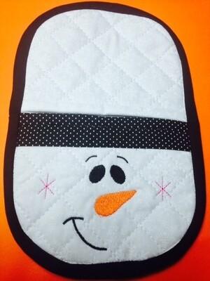 Shark oven mitt machine embroidery in the hoop design