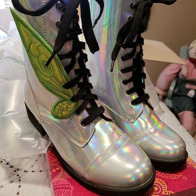 Fairy wings #1 shoe wings - tink style - custom fabrics