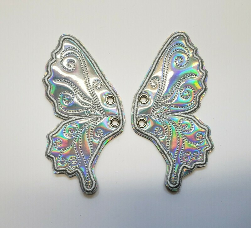 Butterfly 5 inch shoe wings custom colors and fabrics