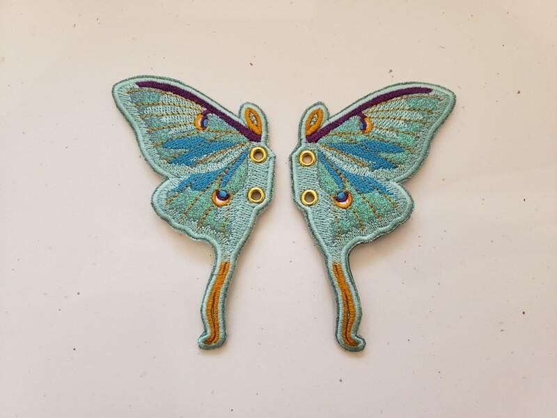 Luna Moth shoe/skate wings