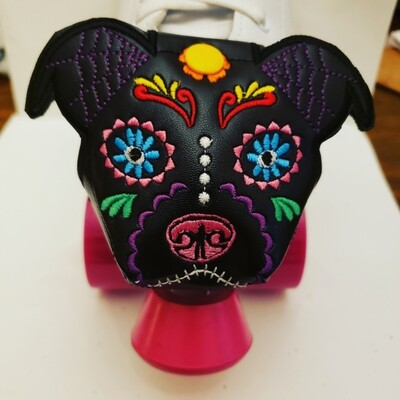 Day of the dead Pitbull Toe guards - Customizable