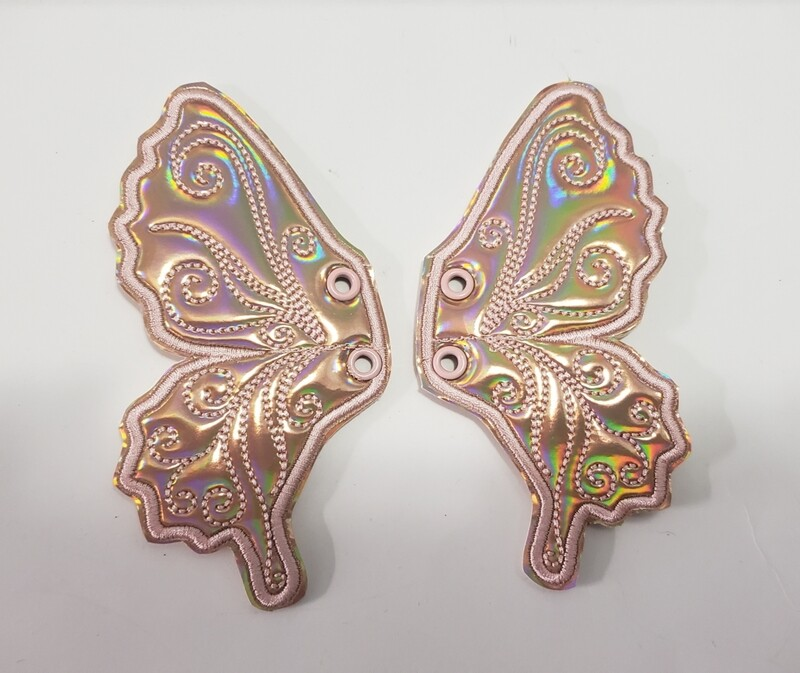 Butterfly Rose gold holo shoe wings rts