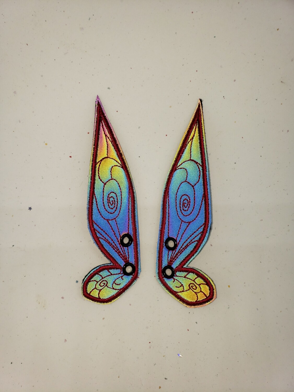 Fairy wings rainbow reflective