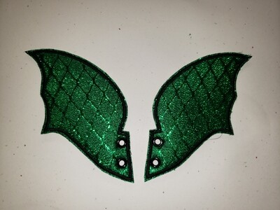 Dragon skate wings in green metallic