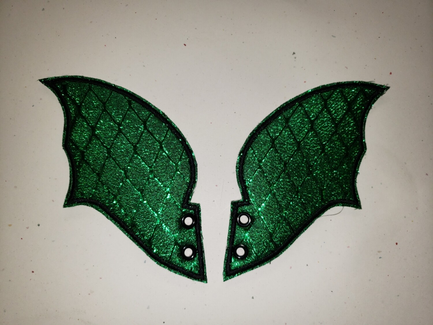 Dragon skate wings in green metallic rts