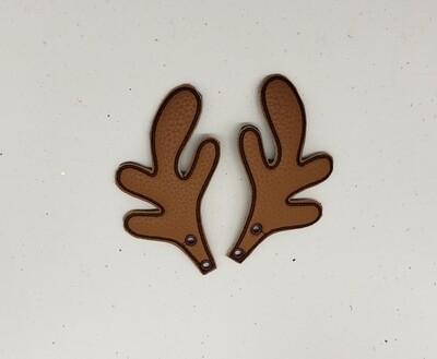 Reindeer antlers skate wings in brown fabric rts