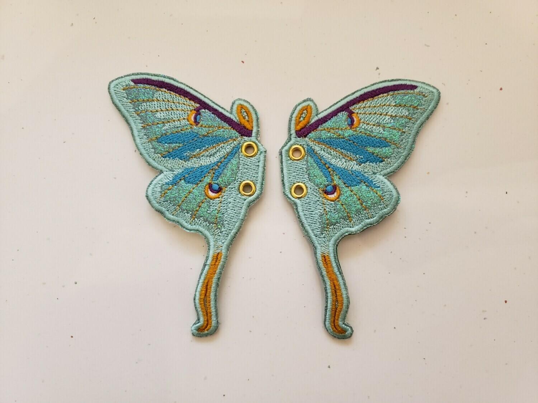 Luna Moth shoe/skate wings in mint rts
