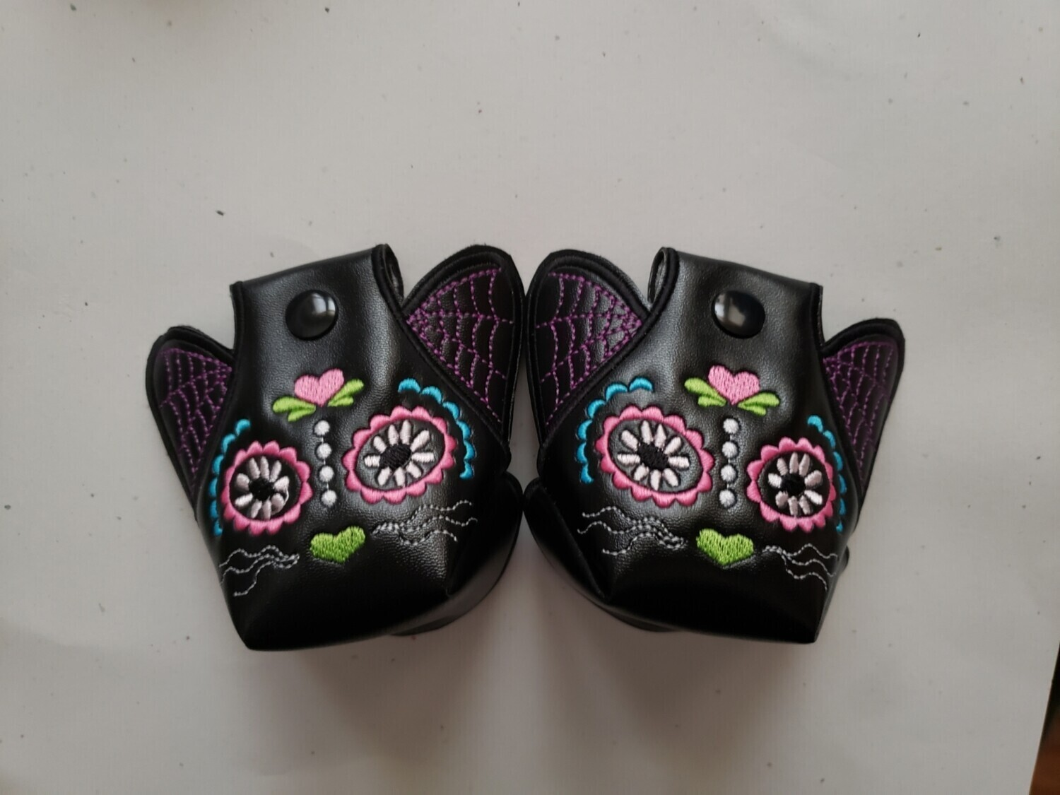 Day of the dead Kitty Toe guards plus kitty face wings