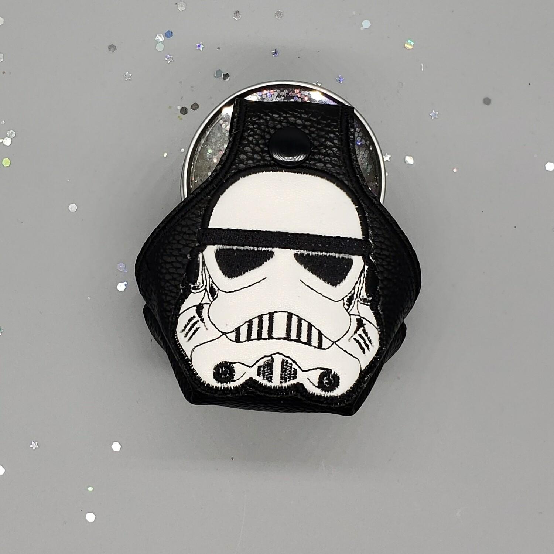 stormtrooper helmet on black faux leather RTS
