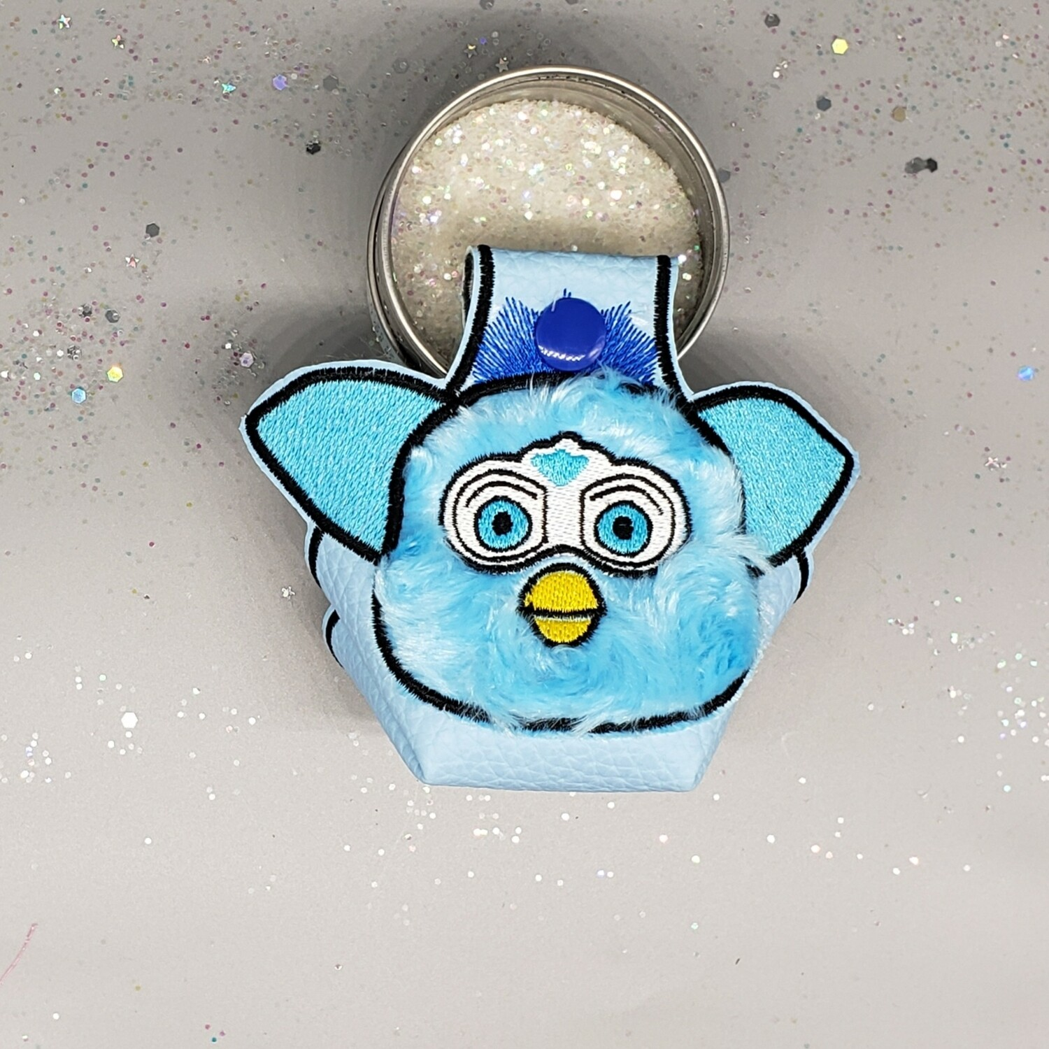 Furby blue fur and faux leather RTS