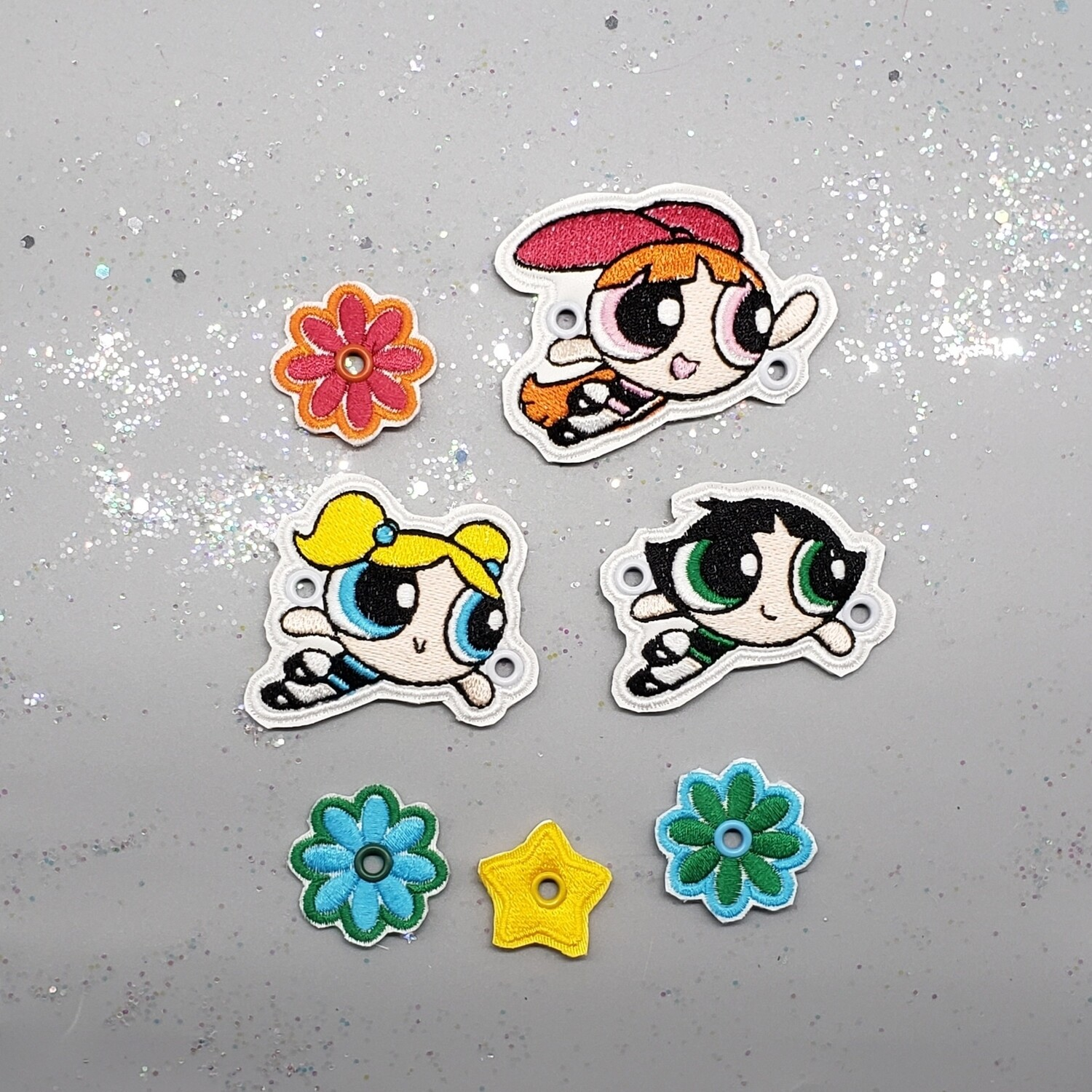 Power puff girls in flight lace accessories