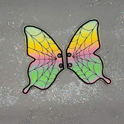 Butterfly spiderweb skate wings available in fabrics of your choice