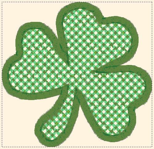 shamrock lace, applique and fill embroidery design freebie, not fsl