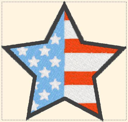 star flag embroidery design