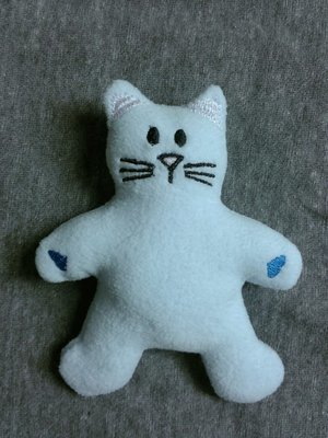 Kitty Cat stuffie in the hoop embroidery design