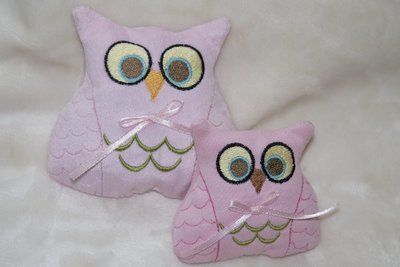 Owl stuffie in the hoop embroidery design