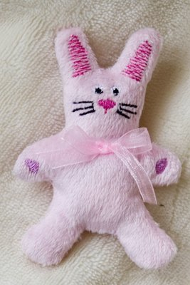 Bunny Rabbit stuffie in the hoop embroidery design