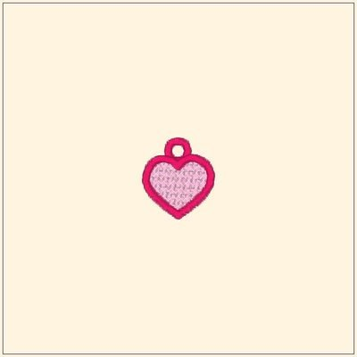 Lace heart charm