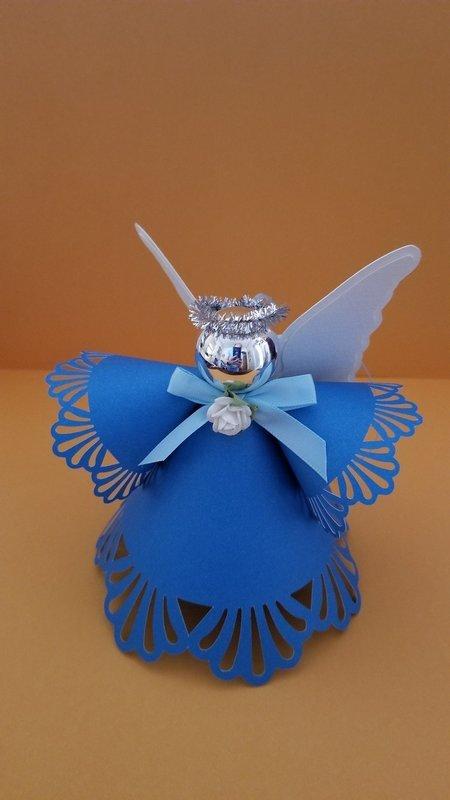 Angel 3d ornament svg cutting file set