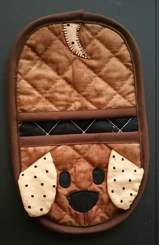 dog doggie oven mitt sewing machine pattern and tutorial