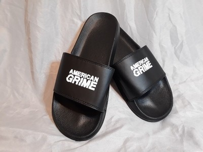 American Grime Logo Slides (White on Black)