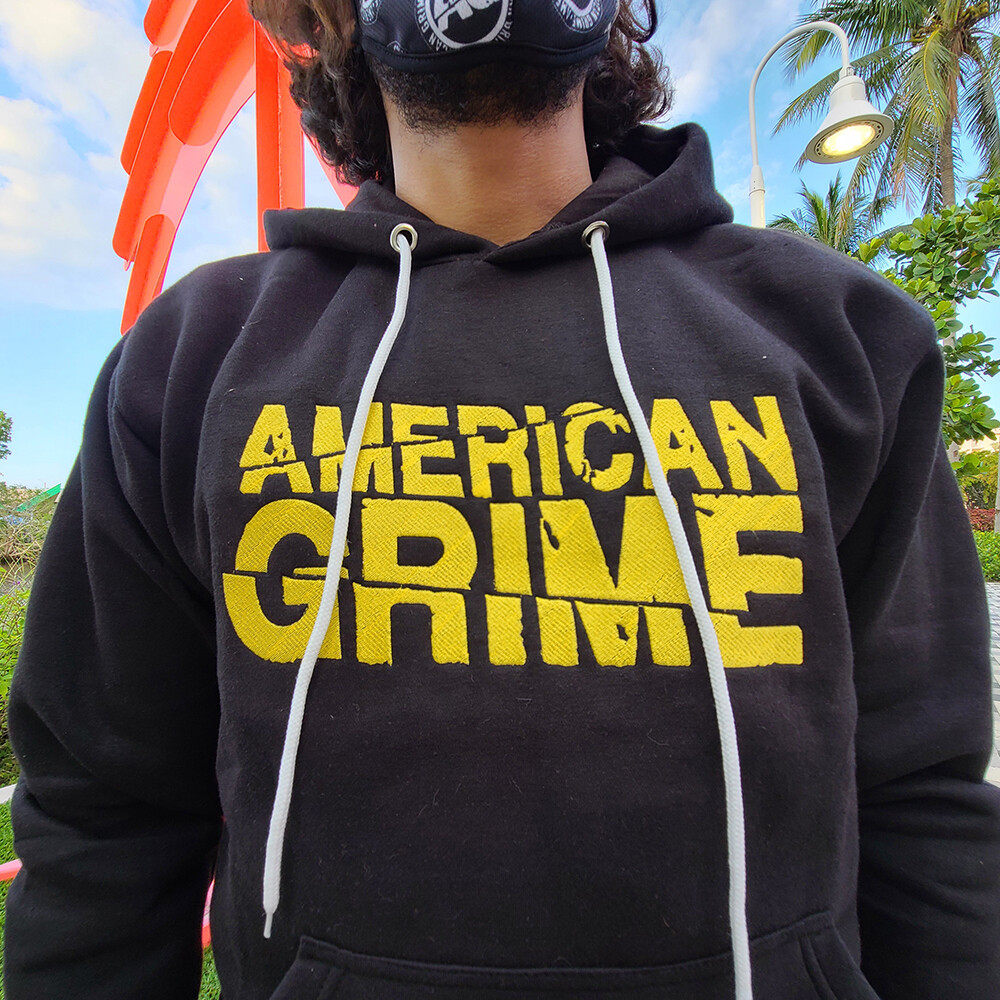 American Grime Embroidered Hoodie (Yellow on Black)