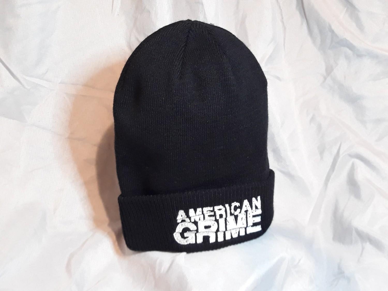 American Grime Logo Beenies (White on Black)