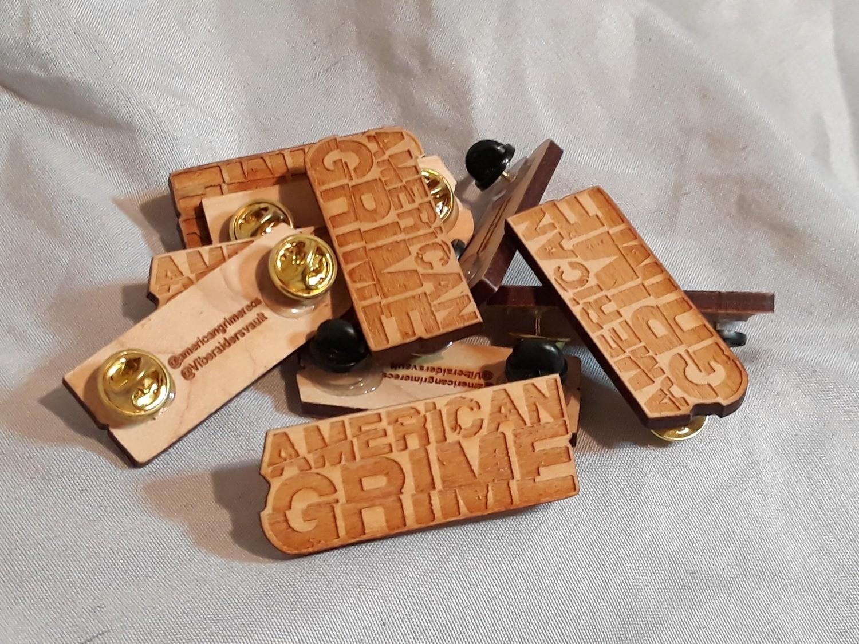 American Grime Logo Pin 1/10 (Wood)