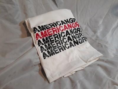 American Grime Stacked White Tee (Medium)