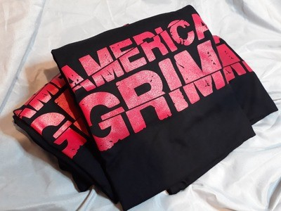American Grime Red Logo on Black Tee (Small)