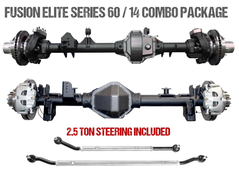 Fusion Elite Kingpin 60 | Big Tube 14 Bolt - Jeep Wrangler JK