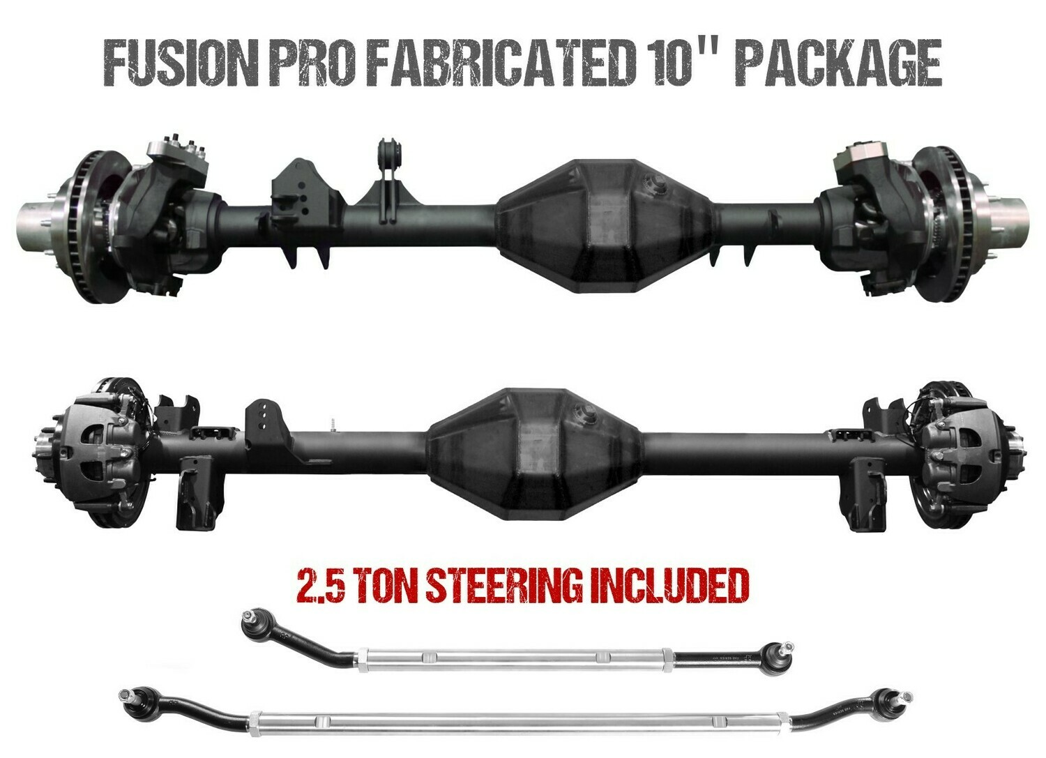 "Fusion Pro Series Fabricated 10"" Axles - Jeep Gladiator JT"